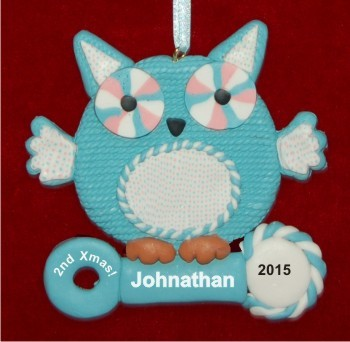 Baby Boy's Second Christmas Christmas Ornament