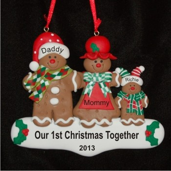 Gingerbread Delight Adopted Child Personalized Christmas Ornament