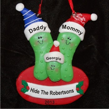 3 Pickles - Family Personalized Christmas Ornament