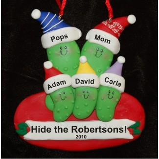 5 Pickles - Family Personalized Christmas Ornament