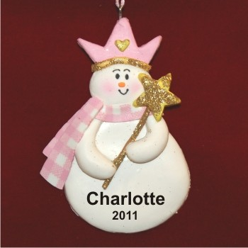 Snow Princess Christmas Ornament Personalized by Russell Rhodes