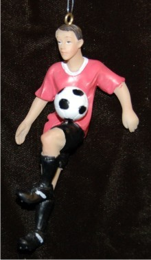 Cactus-Rose Shirt Male Teen Soccer Player Knee Trap Christmas Ornament