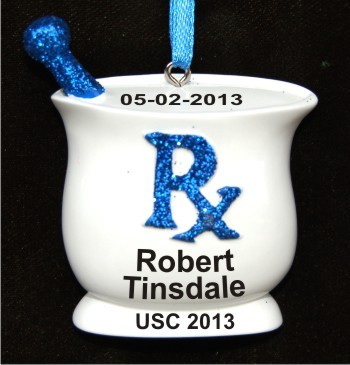 Pharmacy School Grad Christmas Ornament