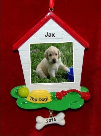 Beloved Dog Frame Christmas Ornament