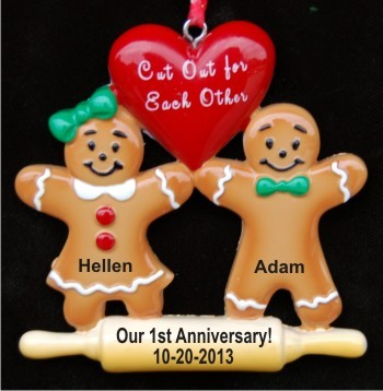 Our First (or any number) Anniversary Made for Each Other Christmas Ornament Personalized
