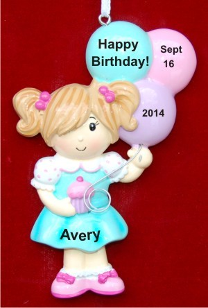 Birthday Girl Christmas Ornament