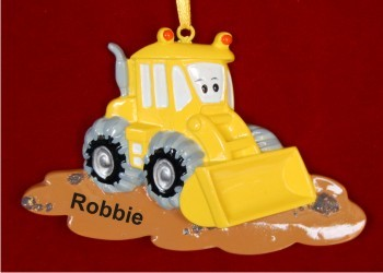 Bart the Bulldozer Christmas Ornament Personalized by Russell Rhodes