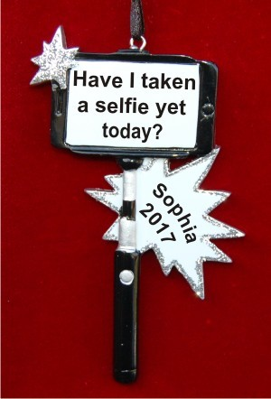 Selfie Photo Frame Christmas Ornament Personalized by Russell Rhodes