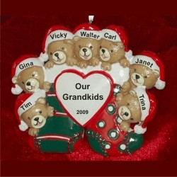 7 Grandkids Christmas Ornament Personalized by Russell Rhodes