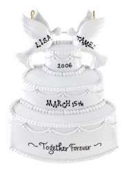 Cake for Two Christmas Ornament Personalized by Russell Rhodes