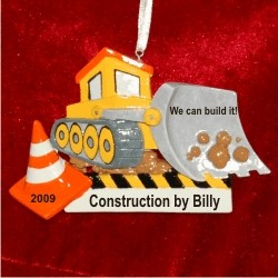 Can We Build It! Construction Christmas Ornament Personalized by Russell Rhodes
