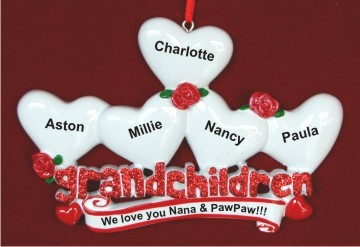 From 5 Grandkids to Grandparents Christmas Ornament Personalized by Russell Rhodes