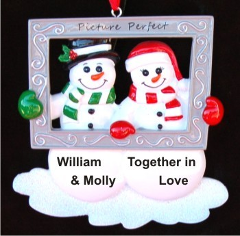 In Love.  There's No Place I'd Rather Be Than with You! Christmas Ornament Personalized