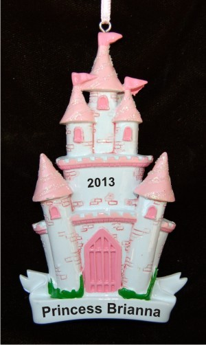 Our Little Princess and Her Castle Christmas Ornament Personalized by Russell Rhodes