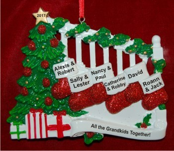 Stockings Hang with Love up to 12 Christmas Ornament Personalized by Russell Rhodes