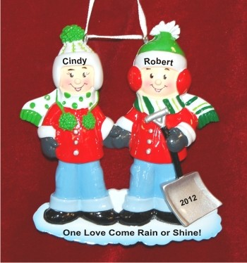 Snow Much Fun Couple Personalized Christmas Ornament