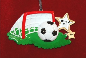Their Goalie is Doomed Soccer Christmas Ornament Personalized by Russell Rhodes