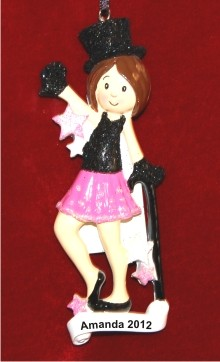 Snappy Jazz Dance Personalized Christmas Ornament