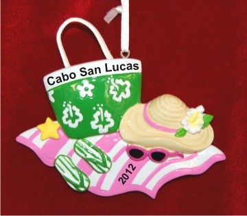 Beach Bag Fun Christmas Ornament