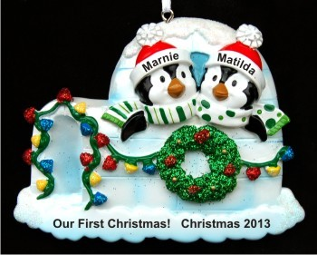 Igloo for Two Our First Christmas Christmas Ornament Personalized