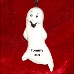 Casper Halloween Ghost Personalized Christmas Ornament