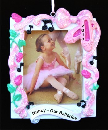 Dance Recital Frame Christmas Ornament Personalized