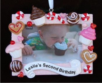 My 1st Birthday Frame Christmas Ornament Personalized