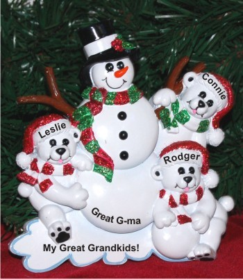 Great Grandma's Three Great Grandkids Tabletop Decoration Personalized by Russell Rhodes