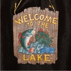 Welcome to the Lake Christmas Ornament Personalized by Russell Rhodes