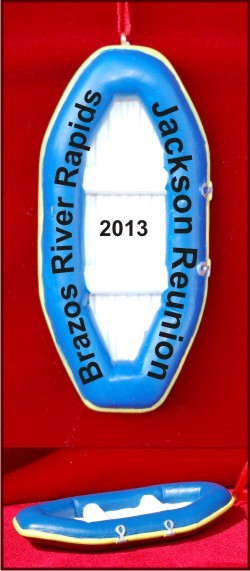 Family Rafting Vacation Christmas Ornament