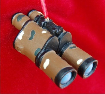 Camo Binoculars Christmas Ornament