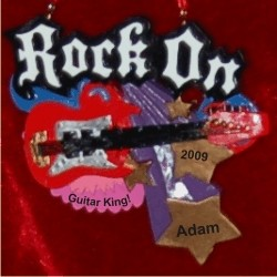Rock On Guitar Ornament Personalized Christmas Ornament