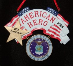 Air Force Military Hero Christmas Ornament