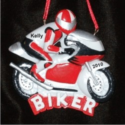 Rowdy Biker Personalized Christmas Ornament