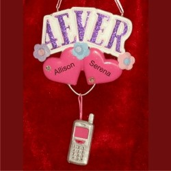 4EVER - For Ever Friends Personalized Christmas Ornament