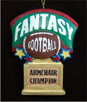 Armchair Warrior: Fantasy Football Personalized Christmas Ornament