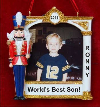 Christmas Nutcracker Frame for Son Personalized Christmas Ornament