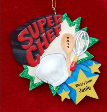 Super Chef Personalized Christmas Ornament