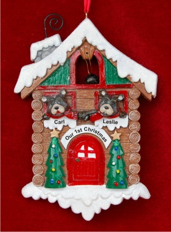 Black Bears at Home: Our 1st Christmas Personalized Christmas Ornament