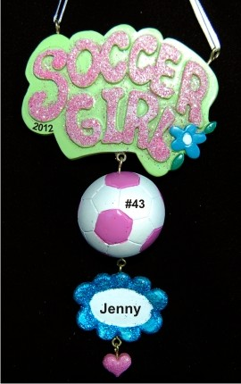 Cool Girls Rock at Soccer Christmas Ornament