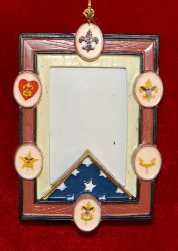 Boy Scouts Frame Christmas Ornament Personalized by Russell Rhodes