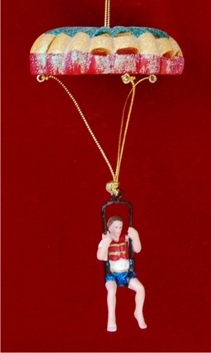 Boy Parasailing Personalized Christmas Ornament