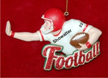 Fantastic Football Christmas Ornament Personalized by Russell Rhodes