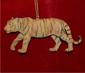 African Tiger Christmas Ornament