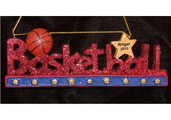 Basketball Rocks Christmas Ornament