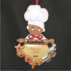 Much Loved Aunt Christmas Ornament Personalized by Russell Rhodes