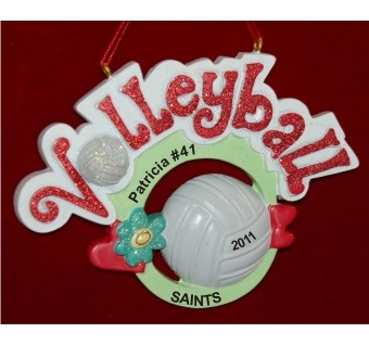 Celebrate Our Volleyball Superstar Personalized Christmas Ornament