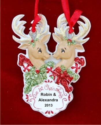 Xmas Deer Our 1st Christmas Personalized Christmas Ornament