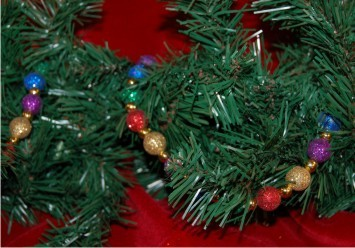 Christmas Garland with Multiple Colors Beaded Christmas Ornament