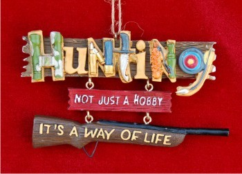 Fun with Hunting Christmas Ornament